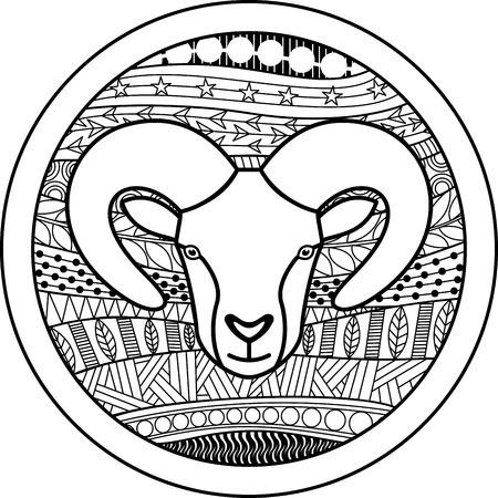 50368391 - zodiac sign aries