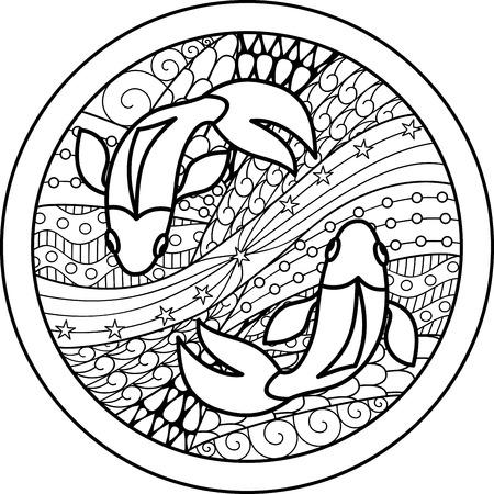 50368392 - zodiac sign pisces