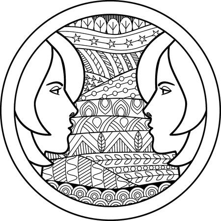 50368400 - zodiac sign gemini